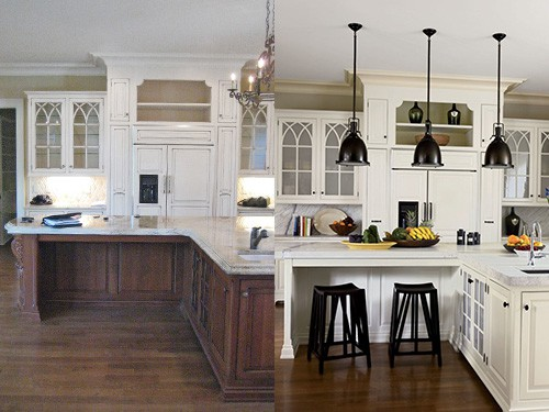 before after kitchen renovation